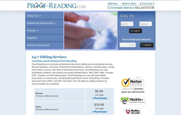 proof reading service co uk