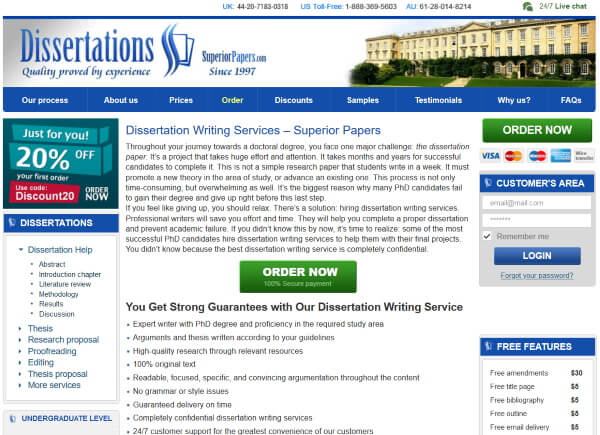Dissertations at SuperiorPapers.com