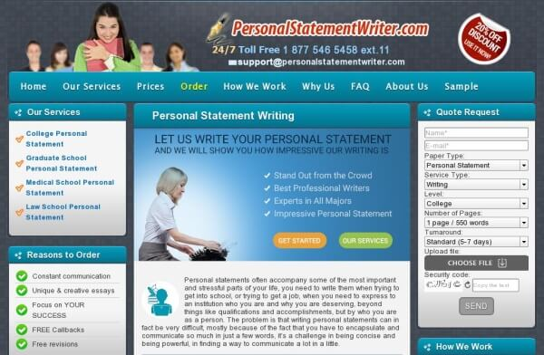 graduate school personal statement editing services